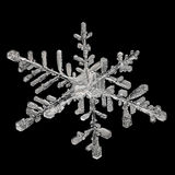 Extreme magnification - Real snowflake Royalty Free Stock Photography