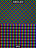 Extreme magnification - RGB, IPS and AMOLED screen comparison at 10x Stock Images