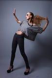 With Extreme Make modelo acima no estúdio Imagens de Stock Royalty Free