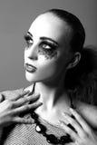 With Extreme Make modelo para arriba en estudio Imagen de archivo libre de regalías