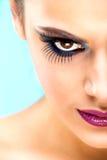 Extreme makeup. Beautiful half face Stock Photos