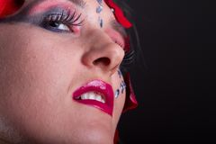 Extreme makeup beauty Royalty Free Stock Photos