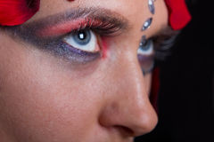 Extreme makeup beauty Royalty Free Stock Images