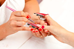Extreme manicure Royalty Free Stock Images
