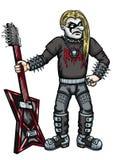 Extreme metal guitarist Stock Photo