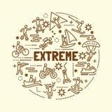 Extreme minimal thin line icons set. Vector illustration design elements Royalty Free Stock Photo