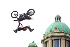 Extreme Motocross Jumper Royalty Free Stock Images