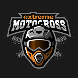 Extreme motocross logo. Royalty Free Stock Photos