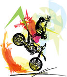 Extreme motocross racer by motorcycle Stock Photo