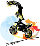 Extreme motocross racer by motorcycle Stock Photography