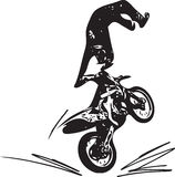 Extreme motocross racer by motorcycle Stock Images