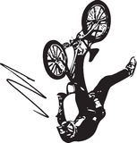 Extreme motocross racer by motorcycle Royalty Free Stock Image