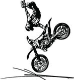 Extreme motocross racer by motorcycle Stock Image