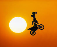 Extreme motocross rider Royalty Free Stock Photography