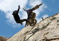 Extreme motorbike royalty free stock image