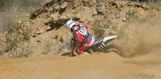 Extreme motorcycle races Stock Photography