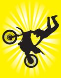 Extreme Motorcycle Rider Royalty Free Stock Images
