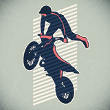 Extreme motorcycling illustration. Stock Photos