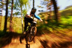 Extreme mountain bike competition Royalty Free Stock Photo