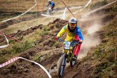 Extreme mountain bike competition Royalty Free Stock Photos