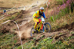 Extreme mountain bike competition Stock Images