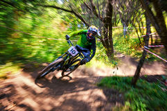 Extreme mountain bike competition Royalty Free Stock Photos