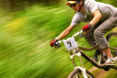 Extreme mountain bike competition Royalty Free Stock Images