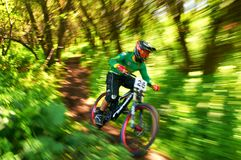 Extreme mountain bike competition Stock Photo