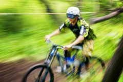 Extreme mountain bike competition Royalty Free Stock Image