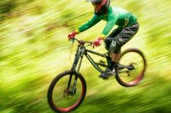 Extreme mountain bike competition Stock Photo