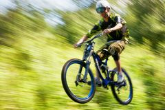 Extreme mountain bike competition Royalty Free Stock Photography