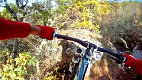 Extreme Mountain Bike race stock video footage