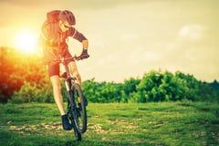 Extreme Mountain Biking stock photography