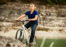 Extreme mountain biking Royalty Free Stock Photography