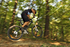 Extreme MTB cyclist Stock Image