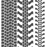 Extreme Mud Tyres Seamless Prints. Vector. Illustration Royalty Free Stock Images