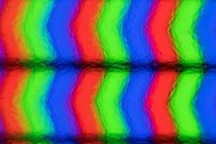 Extreme Nahaufnahmepixel des LCD-Bildschirms Wirkliches Bild Stockbilder