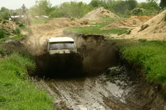 Extreme off road. Too fast for mud road Stock Photo
