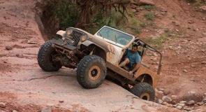 An extreme off-road sporting event in the desert Royalty Free Stock Photography