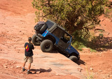 An extreme off-road sporting event in the desert Royalty Free Stock Image