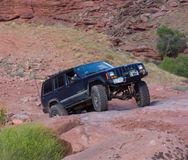 An extreme off-road sporting event in the desert Stock Image