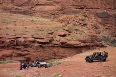 An extreme off-road sporting event in the desert Stock Images