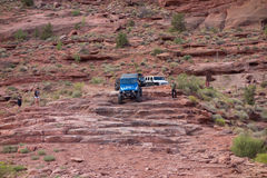 An extreme off-road sporting event in the desert Stock Photography