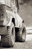 Extreme offroad car in mud Royalty Free Stock Image