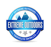 Extreme outdoors seal illustration design Royalty Free Stock Photo