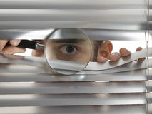 Extreme peeping Tom Royalty Free Stock Images