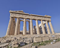 Extreme perspective of Parthenon ancient temple Stock Images