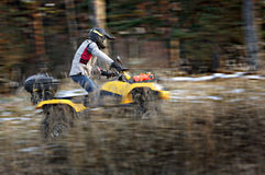 Extreme quad bike riding Royalty Free Stock Photo