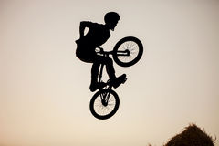 Extreme rider making a bike jump. Stock Photography