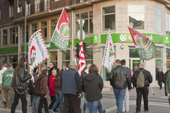 Extreme rightist strike in Budapest on March 15. Extreme rightist strike in BUDAPEST - MARCH 15: Extreme rightist strike on the day of Hungarian national Royalty Free Stock Images